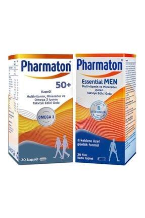 Pharmaton Essential Men 30 Kapsül ve 50 Plus 30 Kapsül