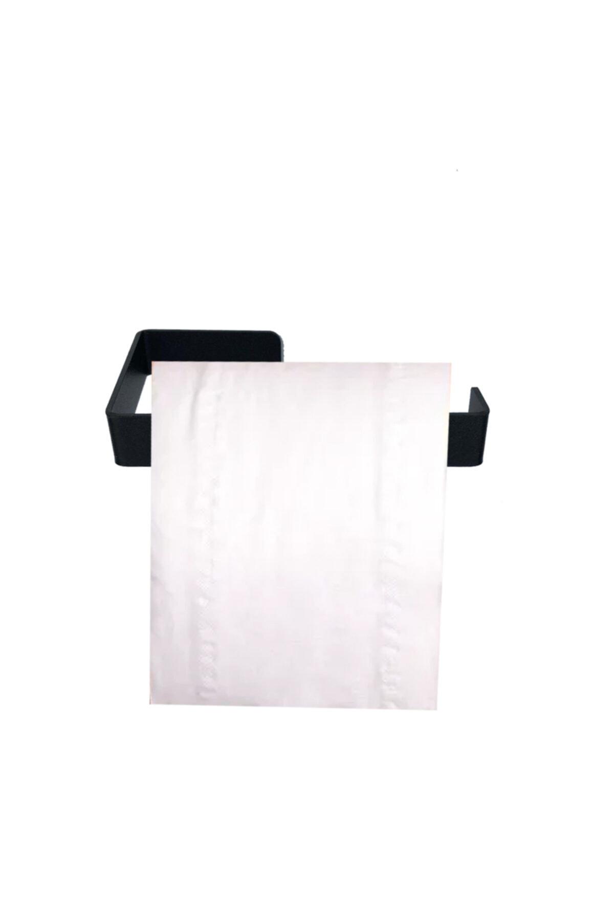 Love Gifts Skogs Çelik Tuvalet Kağıtlığı Tuvalet Kağıdı Askısı-siyah 2
