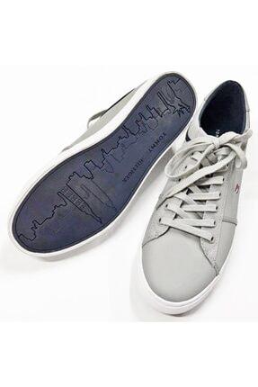 Tommy Hilfiger Gri Essential Leather Sneaker Fm0fm0268-prt