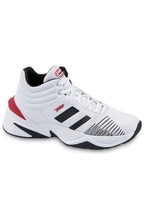 Jump 24774 Beyaz-siyah-kırmızı Erkek Spor Ayakkabı