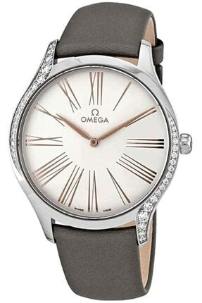 Omega Kadın Gri De Ville Tresor 428.17.39.60.02.001 Pırlantalı Saati