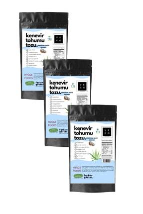 Hyggefoods Vegovego Kenevir Kendir Tohumu Tozu Yüksek Protein - Hindistan Cevizi Aromalı - 3 Adet