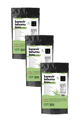 Hyggefoods Vegovego Kendir ( Hemp ) Tohumu Protein Tozu - Orijinal - 3 Adet