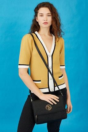 U.S. Polo Assn. Sıyah-sıyah Kadın Postacı Çantası Us8370