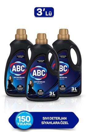 ABC Siyahlara Özel Sıvı Deterjan 3 lt - 3'lü Set