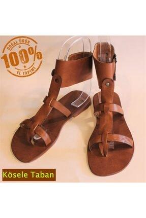 Unicus Bodrum Sandalet El Yapımı Hakiki Gerçek Deri Gladyatör Bodrum Kadın Sandalet