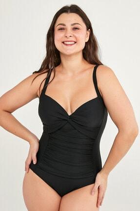 Penti Kadın Siyah Basic Shirred Mayo