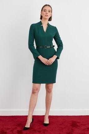 Journey Kadın Yeşil Kemer Detaylı Elbise
