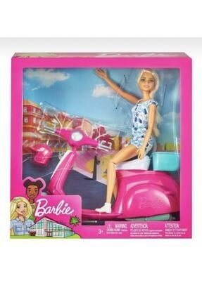 mattel Barbie Pembe Bebek Scooter Playset Gbk85 Pra-2604247-9967
