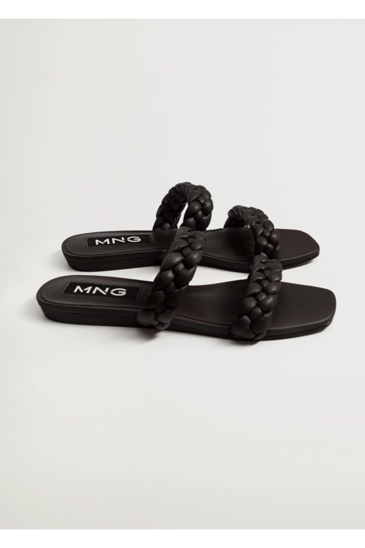 MANGO Woman Kadın Siyah Sandalet 1
