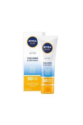 Nivea Sun Yaşlanma Karşıtı Güneş Kremi Yüz Kremi Spf 50+ 50 ml