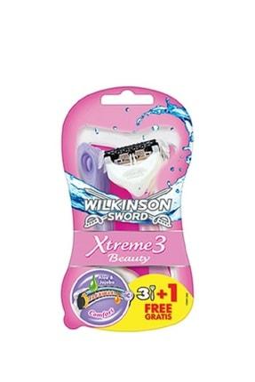 Wilkinson Xtreme 3 Beauty Oynar Başlıklı Tıraş Bıçağı 3+1 Avantaj Paketi