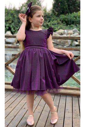 Riccotarz Kız Çocuk Mor Parıldayan Elbise
