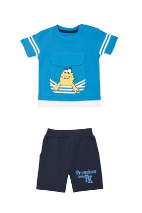 Pattaya Kids Erkek Bebek Cep Detaylı Baskılı 2li Takım Pb21s505-2052