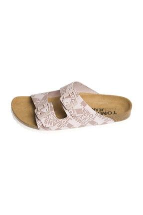Tommy Hilfiger Kadın Pink Sandalet Allover Print Flat Sandal EN0EN00455