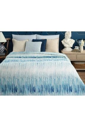 Madame Coco Buiron Çift Kişilik Baskılı Pike - Mavi