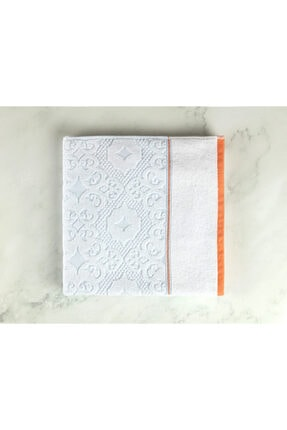 Madame Coco Aluin Jakarlı Banyo Havlusu - Mint / Beyaz