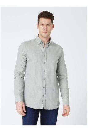 LİMON COMPANY Erkek Haki Uzun Kolu Gömlek