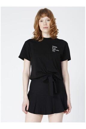 LİMON COMPANY Kadın Siyah Baskılı Tişört