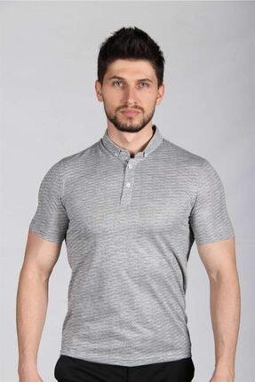 İgs Erkek Gri Standart Polo Yaka Tişört