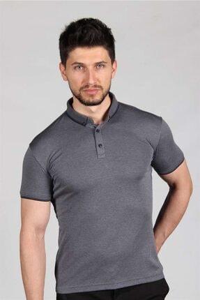 İgs Erkek Füme Standart Polo Yaka Tişört