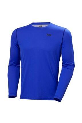 Helly Hansen Erkek Mavi Lifa Active Solen  Likra Spor T-Shirt