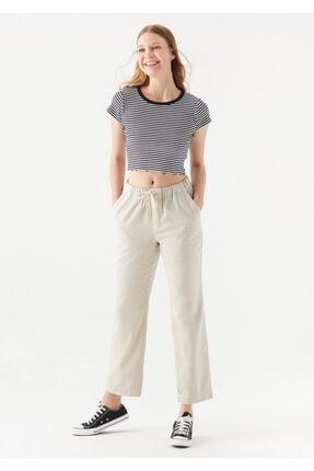 Mavi Kadın Beli Bağcıklı Bej Pantolon 101490-35043
