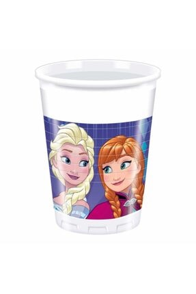 HERASTORE Parti Aksesuar Frozen Kar Taneler Temalı Plastik Bardak 8 Adet
