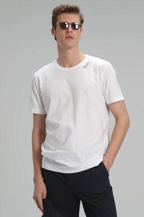 Lufian Gavin Modern Grafik T- Shirt Beyaz