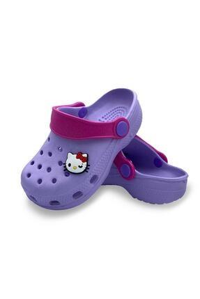 Akınal Bella Kız Çocuk Lila Hello Kitty Tasarımlı Sandalet Terlik