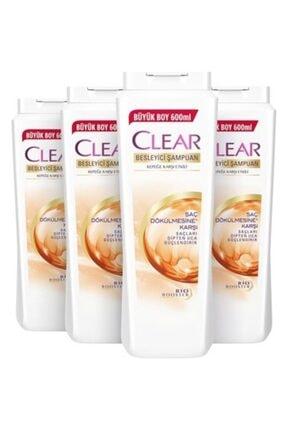 Clear Saç Dökülmelerine Karşı Besleyici Şampuan 600 ml 4 Adet