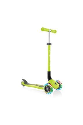 Globber Primo Katlanabilir Işıklı Yeşil Scooter