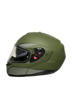 AXXIS Açılabilir Kask - Roc Sv Solid Mat Yeşil Kask