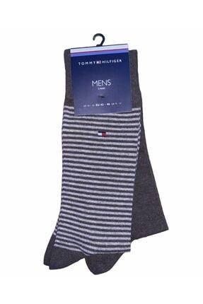 Tommy Hilfiger Erkek Th Men Small Stripe Çorap 09a3429001