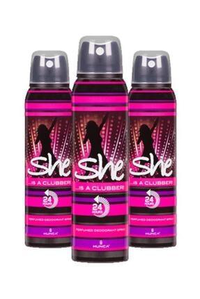 She Clubber Bayan Deodorant 150 Ml X3