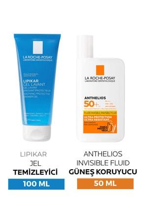 La Roche Posay Yüz Güneş Kremi - Anthelios Shaka Fluid Spf 50 + 50 ml + Lipikar Gel 100 ml