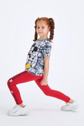DeFacto Kız Çocuk Mavi Mickey Mouse Lisanslı Tayt