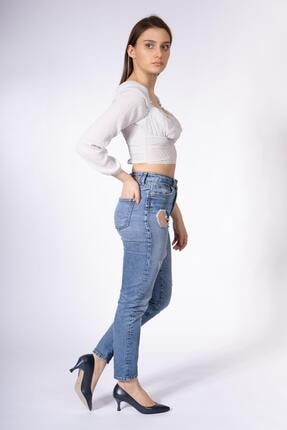 CZ London Kadın Hakiki Deri Alçak Topuk Stiletto Sivri Burun Bayan Ayakkabı