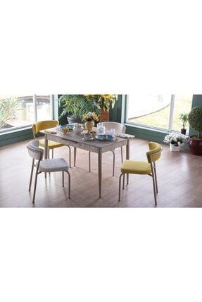 İSTİKBAL Marco Mutfak Masa Seti Açılır Beyaz-sarı