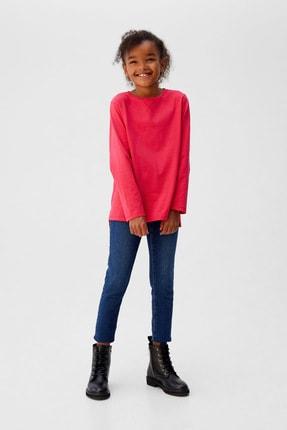 MANGO Kids Kız Çocuk Fuşya T-Shirt 53073718