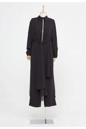 Setrms Kadın Siyah Taş Detaylı Ikili Takım