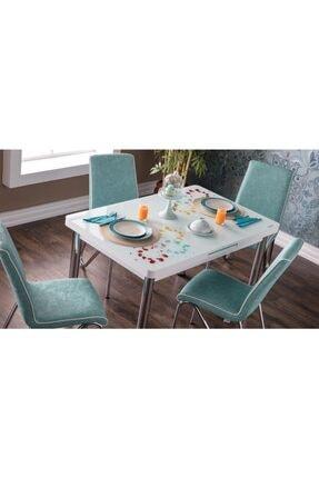 İSTİKBAL Su Yeşili Rainbow Masa-Sandalye Seti
