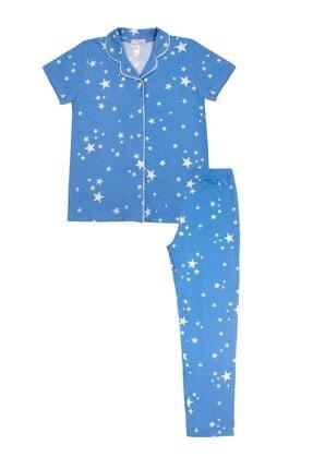 SUWEN Fiona Çocuk Maskulen Pijama Takımı