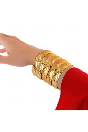 Yıldız Gold İmitasyon 22 Ayar Altın Kaplama Desenli 1.5 Cm Bilezik