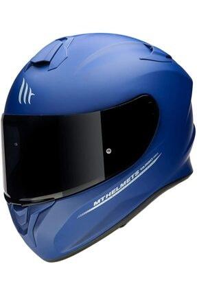 MT Helmets Mt Targo Mat Mavi Full Face Kask(beyaz Camlıdır)