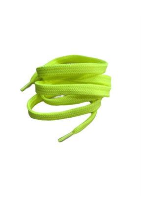 Güneş Spor Ayakkabı Bağcığı 1 Çift Fosforlu Yeşil