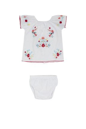 Pattaya Kids Kız Bebek Nakışlı Külotlu Elbise 3-18 Ay Pb21s506-2107