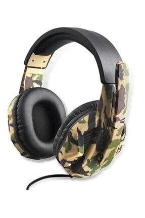 TG Oyuncu Kulaklığı Mikrofonlu Kulak Üstü Kablolu Kulaklık G4 Kamufulaj