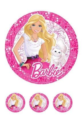 SEVVOM Boutique Barbie Resimli Yenilebilir Şekerli Pasta Ve Kurabiye Baskı Kağıdı