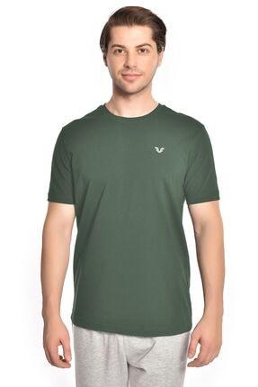 bilcee Erkek Koyu Yeşil Basic T-shırt